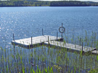 Pontoon for swimming and leasure